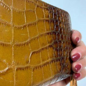 Michael Kors Bags - Michael Kors Croc look Wallet brown & gold